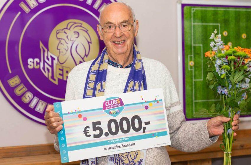 Hercules Zaandam blij met prijs Club van de Week