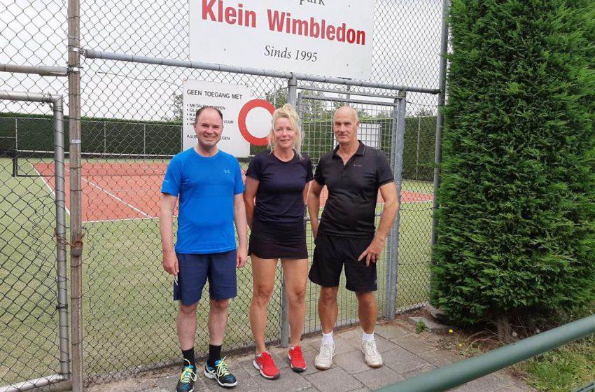 Kleine verschillen op toernooi tennisvereniging Klein Wimbledon