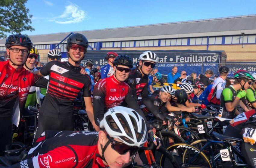 Tiende van de Tiende fietsen bij 100 jarig bestaan van DTS